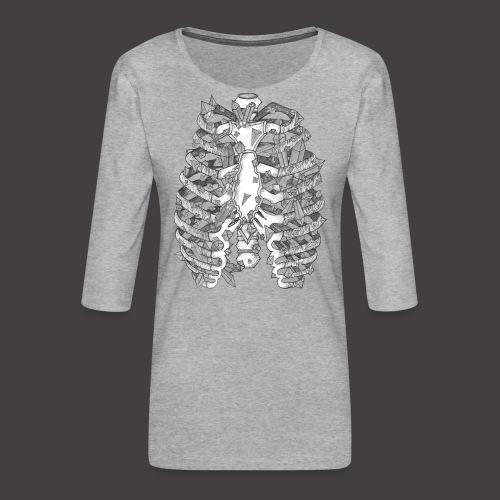 La Cage Thoracique de Cristal - T-shirt Premium manches 3/4 Femme