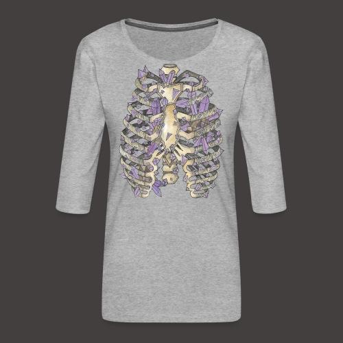 La Cage Thoracique de Cristal couleur - T-shirt Premium manches 3/4 Femme
