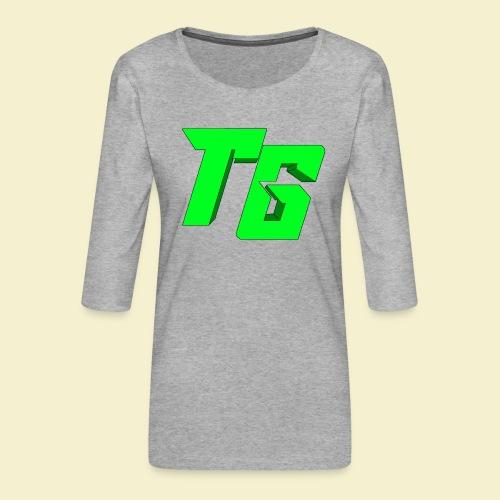 TristanGames logo merchandise [GROOT LOGO] - Vrouwen premium shirt 3/4-mouw