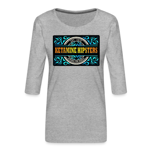 Black Vintage - KETAMINE HIPSTERS Apparel - Women's Premium 3/4-Sleeve T-Shirt