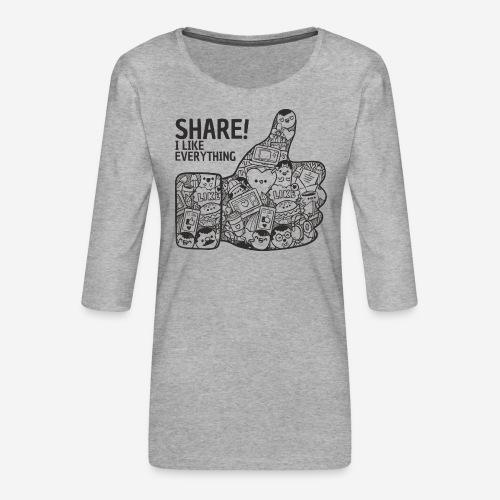 like social media share - Frauen Premium 3/4-Arm Shirt