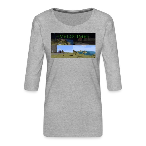 Velotime! - Premium-T-shirt med 3/4-ärm dam