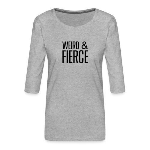 WEIRD - T-shirt Premium manches 3/4 Femme