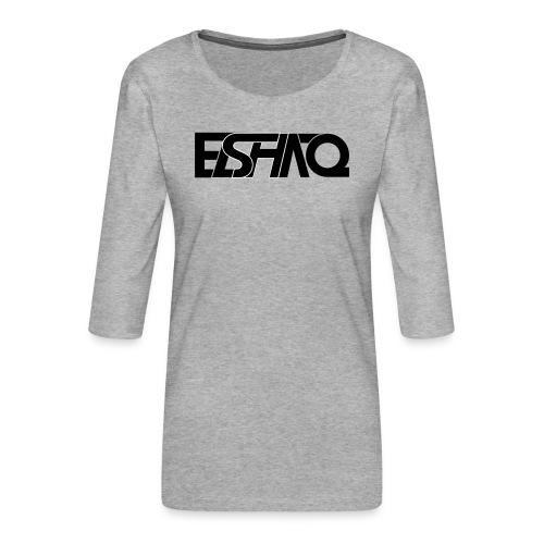 elshaq black - Women's Premium 3/4-Sleeve T-Shirt