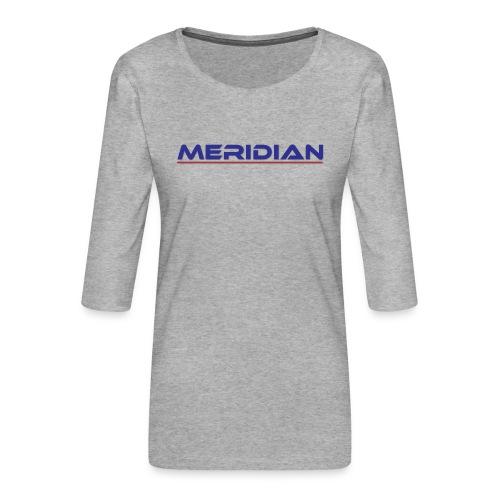 Meridian - Maglietta da donna premium con manica a 3/4