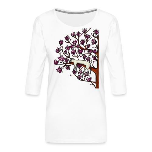 Magnolia - Premium-T-shirt med 3/4-ärm dam
