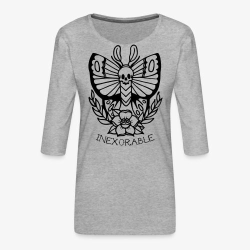 Traditional Tattoo Moth - Women's Premium 3/4-Sleeve T-Shirt