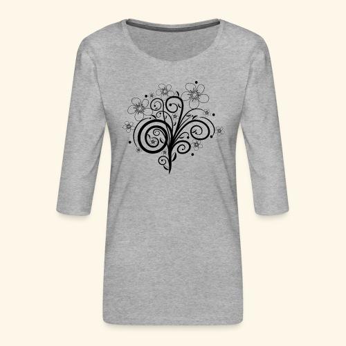 Blumenranke, Blumen, Blüten, floral, Ornamente - Frauen Premium 3/4-Arm Shirt
