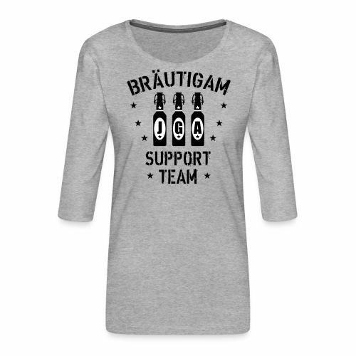 03 JGA Bierflaschen Bräutigam Support Team - Frauen Premium 3/4-Arm Shirt