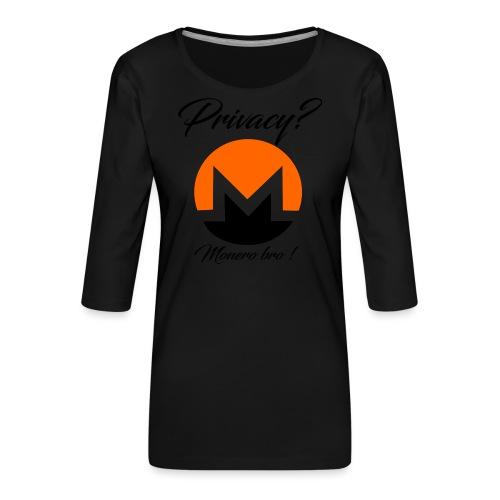 Moneroooo - T-shirt Premium manches 3/4 Femme