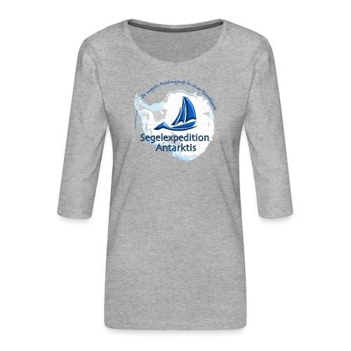 segelexpedition antarktis3 - Frauen Premium 3/4-Arm Shirt