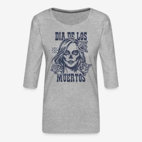 dia muertos day dead - Frauen Premium 3/4-Arm Shirt