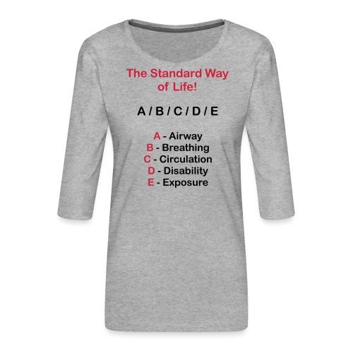 Rettungsdienst ABC Schema - Frauen Premium 3/4-Arm Shirt
