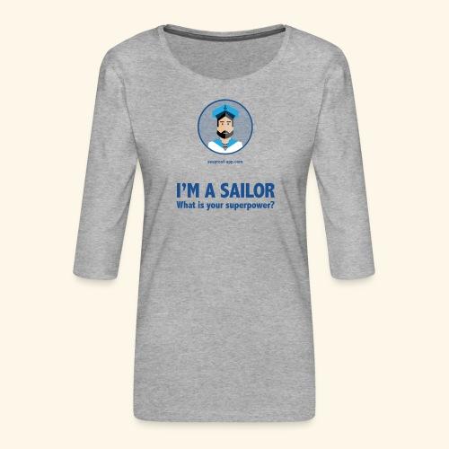 SeaProof Superpower - Frauen Premium 3/4-Arm Shirt