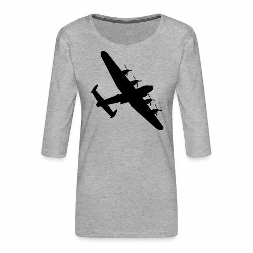 Bomber Plane - Maglietta da donna premium con manica a 3/4