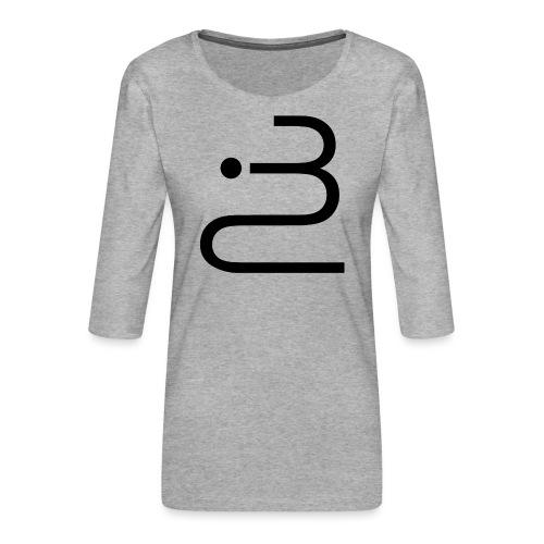 logobottega - Maglietta da donna premium con manica a 3/4