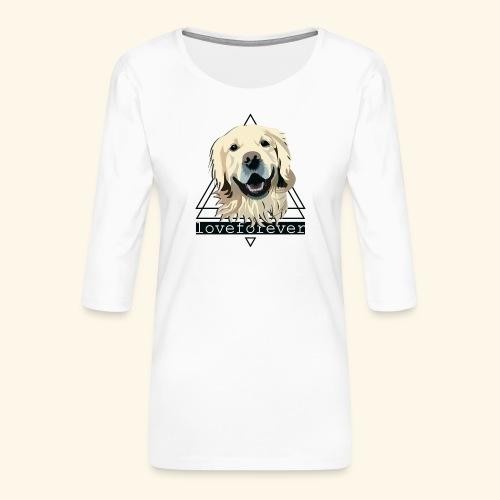 RETRIEVER LOVE FOREVER - Camiseta premium de manga 3/4 para mujer