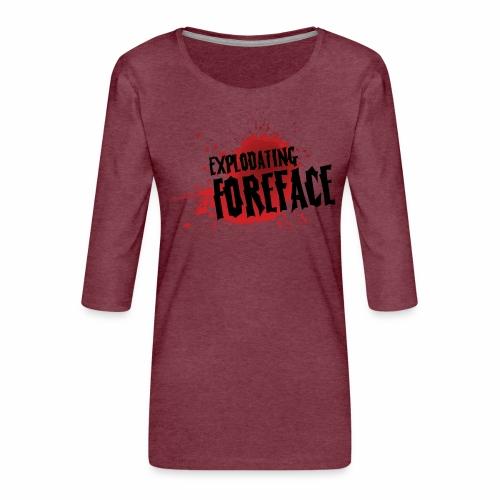 Eplodating Foreface - Women's Premium 3/4-Sleeve T-Shirt