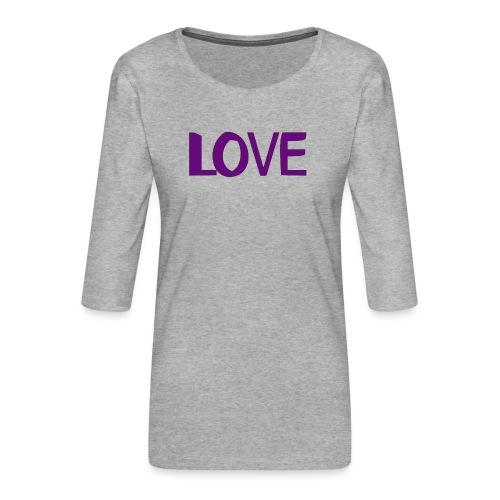 love 1 - Camiseta premium de manga 3/4 para mujer