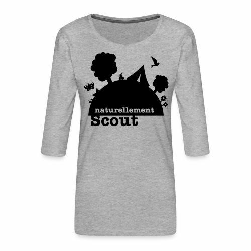Naturellement Scout - T-shirt Premium manches 3/4 Femme