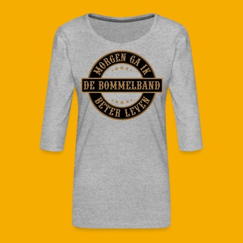 bb logo rond shirt - Vrouwen premium shirt 3/4-mouw