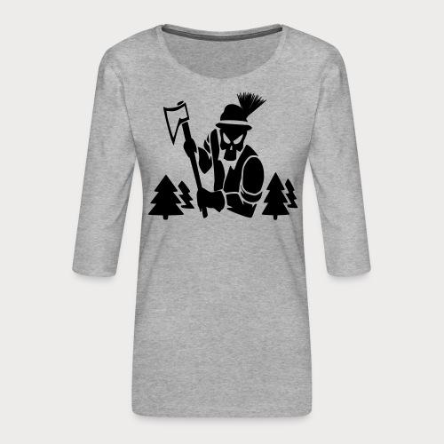 Holzfäller - Frauen Premium 3/4-Arm Shirt