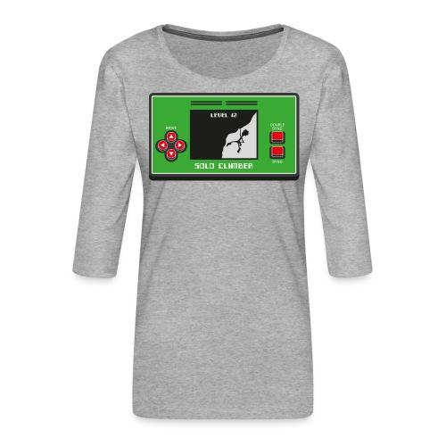Solo Climber Telespiel - Frauen Premium 3/4-Arm Shirt