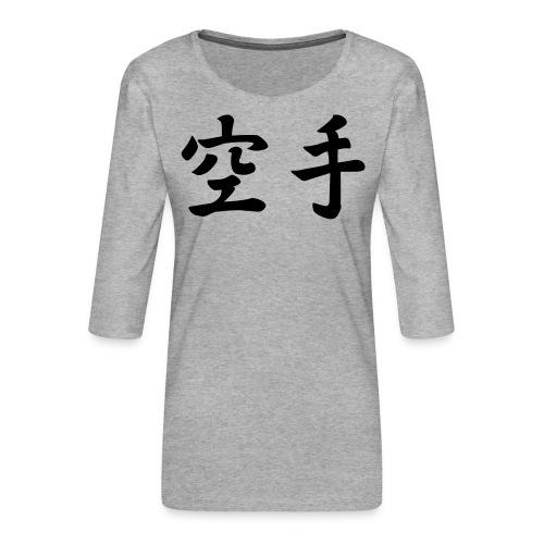 karate - Vrouwen premium shirt 3/4-mouw
