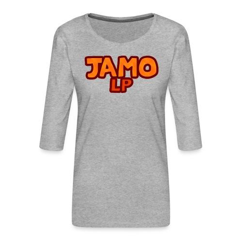 JAMOLP Logo T-shirt - Dame Premium shirt med 3/4-ærmer