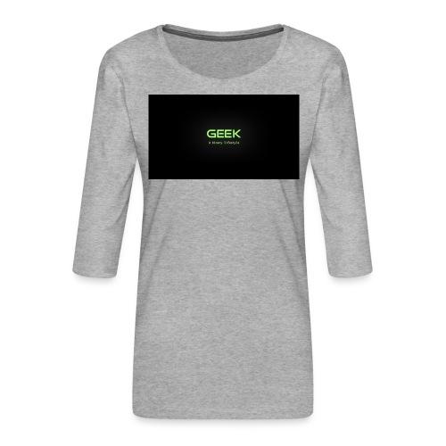 geek_binary_life_style - Camiseta premium de manga 3/4 para mujer