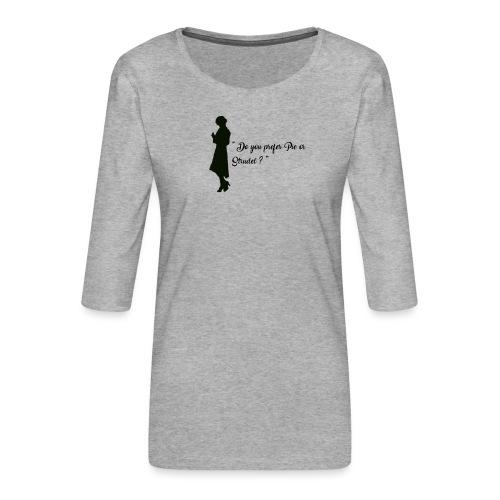Queenie - T-shirt Premium manches 3/4 Femme