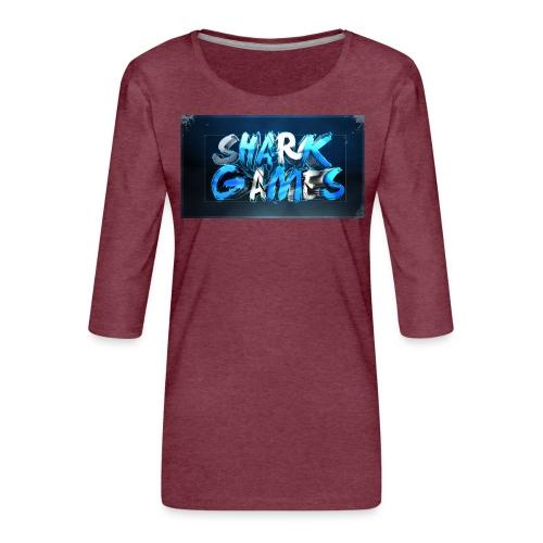 SharkGames - Maglietta da donna premium con manica a 3/4