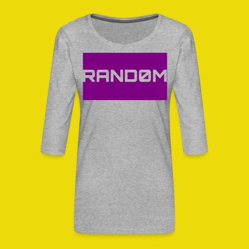 Random Logo - Women's Premium 3/4-Sleeve T-Shirt