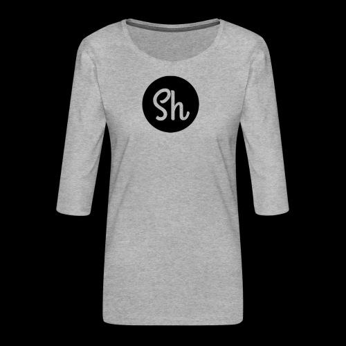 LOGO 2 - Women's Premium 3/4-Sleeve T-Shirt