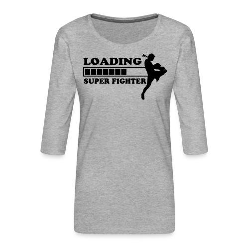 fighter loading - Vrouwen premium shirt 3/4-mouw