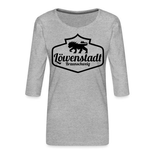 Löwenstadt Design 1 schwarz - Frauen Premium 3/4-Arm Shirt