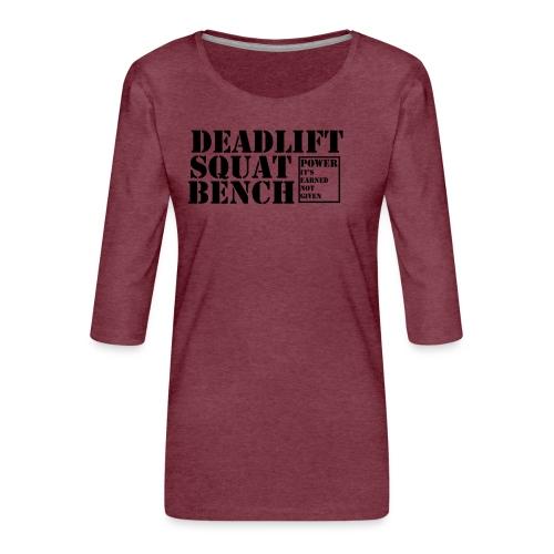 The Big 3 - Women's Premium 3/4-Sleeve T-Shirt