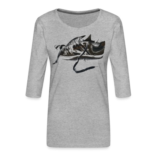 shoe (Saw) - Women's Premium 3/4-Sleeve T-Shirt