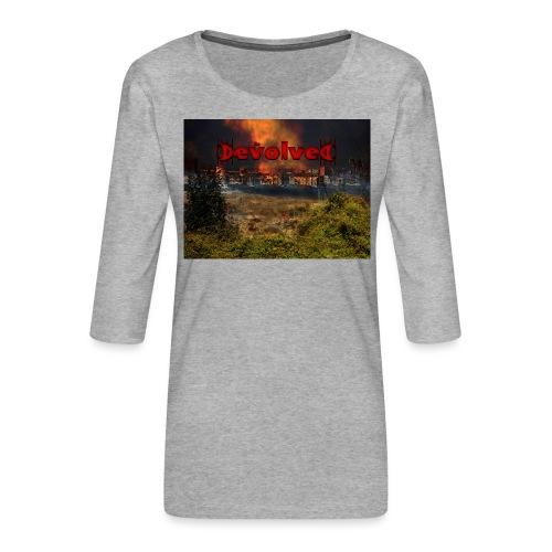 The Devolved Long TS1 - Women's Premium 3/4-Sleeve T-Shirt