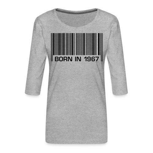 born in 1967 50th birthday 50. Geburtstag barcode - Women's Premium 3/4-Sleeve T-Shirt
