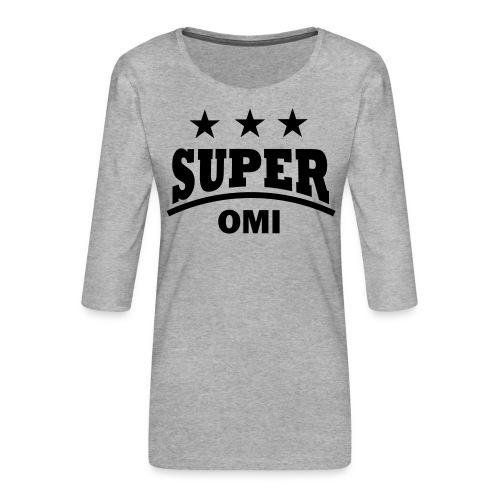 cool super omi raster - Vrouwen premium shirt 3/4-mouw