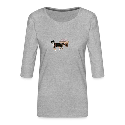 Grosser Drag - Premium-T-shirt med 3/4-ärm dam
