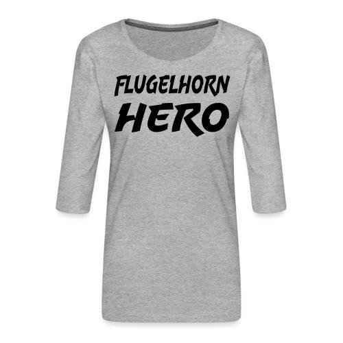 Flugelhorn Hero - Premium T-skjorte med 3/4 erme for kvinner