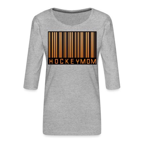 Hockey Mom Mamma Äiti Mother - Premium-T-shirt med 3/4-ärm dam