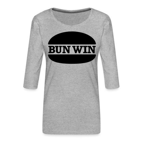bunwinblack - Women's Premium 3/4-Sleeve T-Shirt