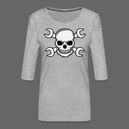 MEKKER SKULL - Dame Premium shirt med 3/4-ærmer