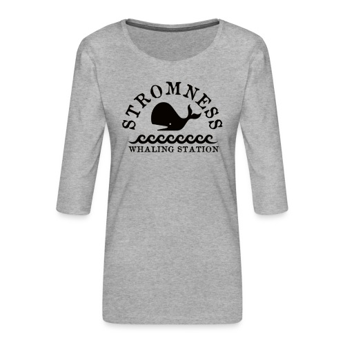 Sromness Whaling Station - Women's Premium 3/4-Sleeve T-Shirt