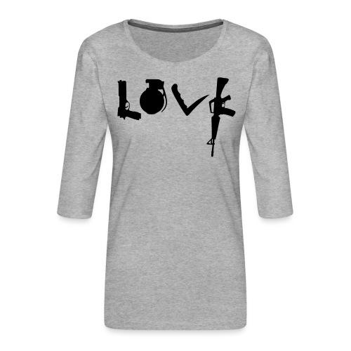 Love weapons - Women's Premium 3/4-Sleeve T-Shirt