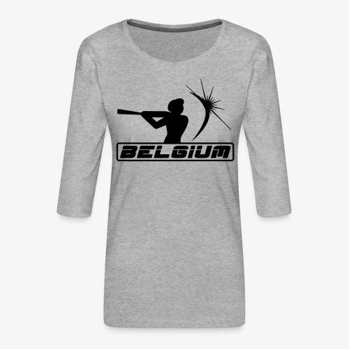 Belgium 2 - T-shirt Premium manches 3/4 Femme
