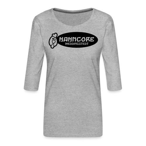hahncore_sw_nur - Frauen Premium 3/4-Arm Shirt